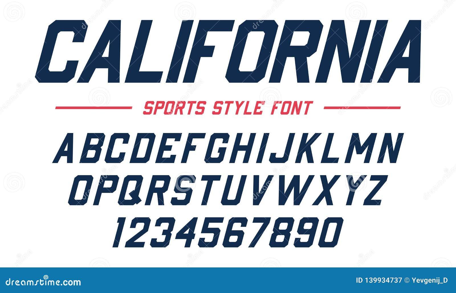 Classic College Font Vintage Sport Sans Serif Beveled Font In American Style For Football Soccer Baseball Stock Vector Illustration Of Logo Serif 139934737