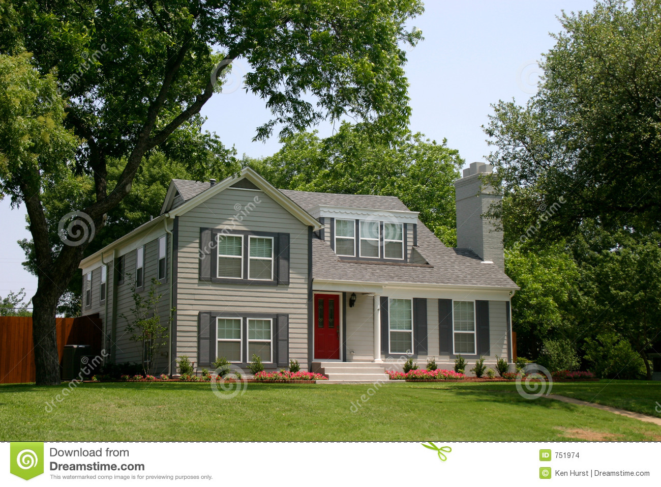 Classic colonial style house stock images image 751974 for Classical style house