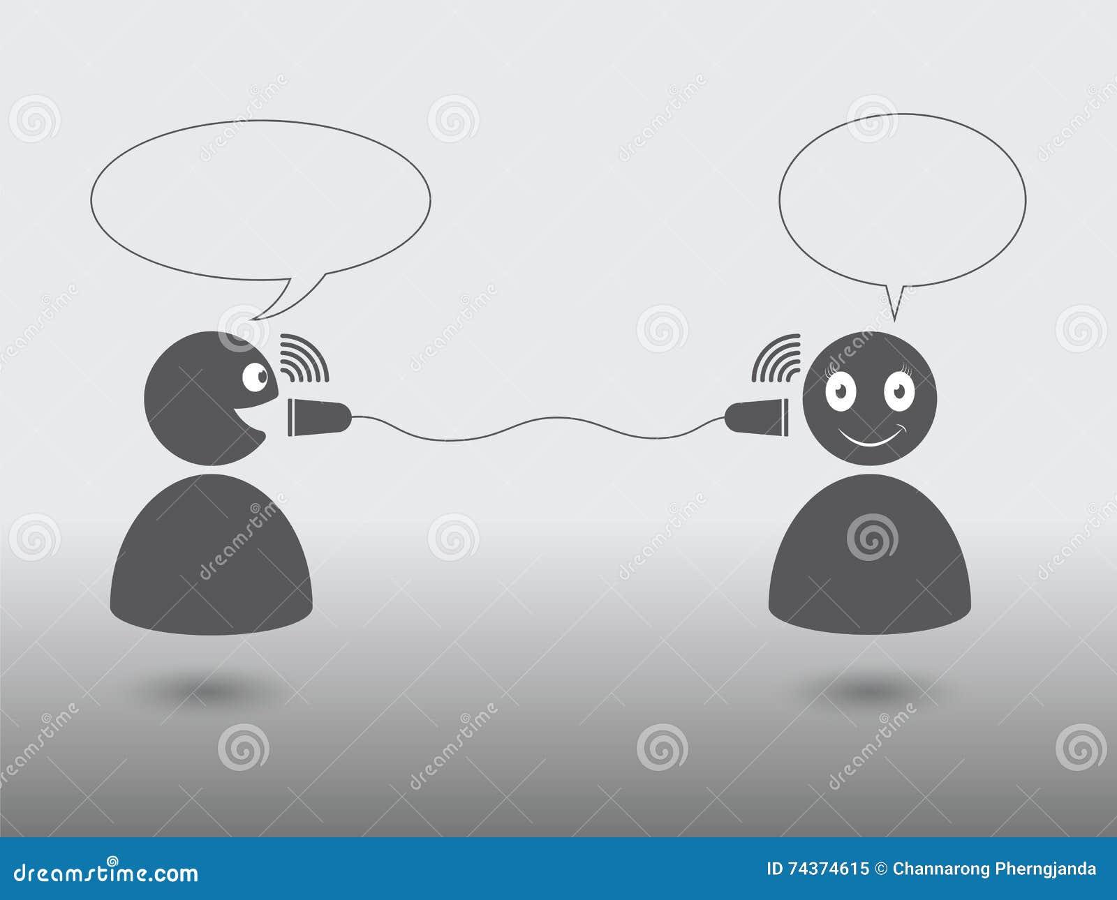 Communication between people — Stock Vector © cifotart ... |Communication Between People