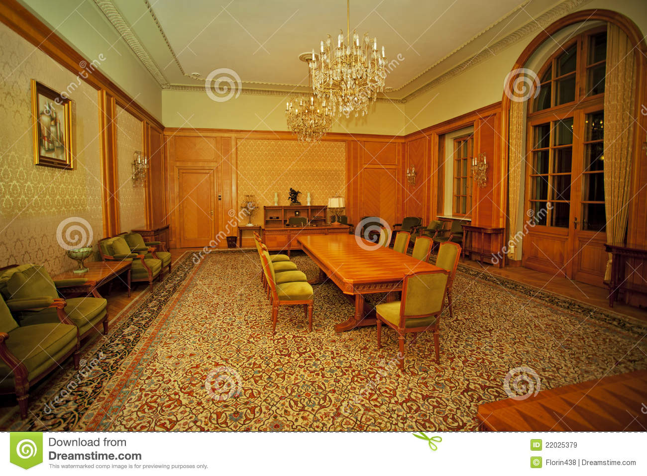classic conference room royalty free stock images