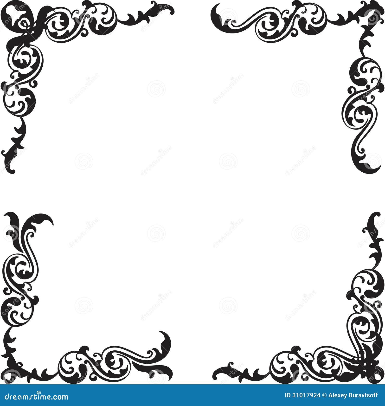 Download Classic Corner Set Stock Vector Illustration Of Gothic