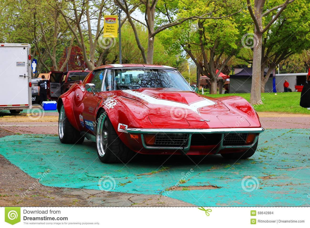 Classic Corvette Car At The Good Guys Car Show Editorial Stock Image - The good guys automotive