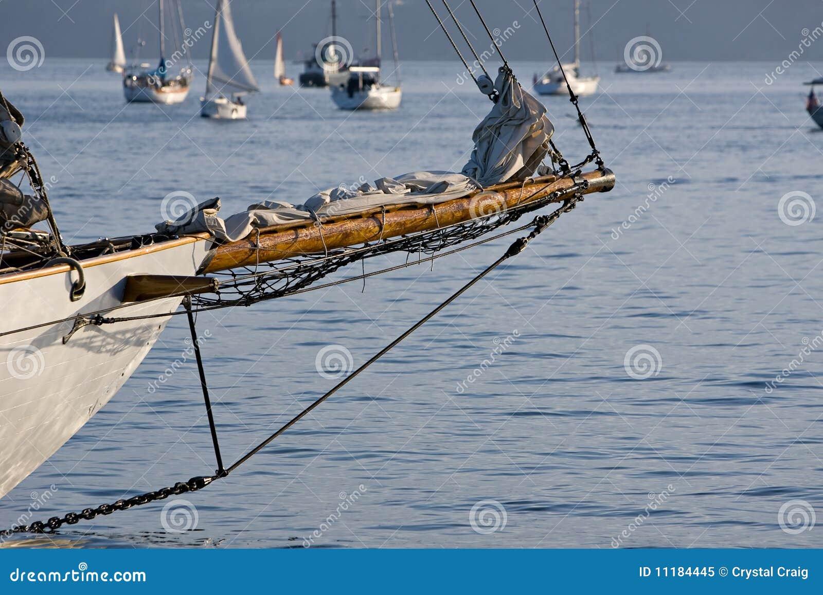 Classic Craftsmanship Sailboat Bowsprit Stock Image - Image: 11184445