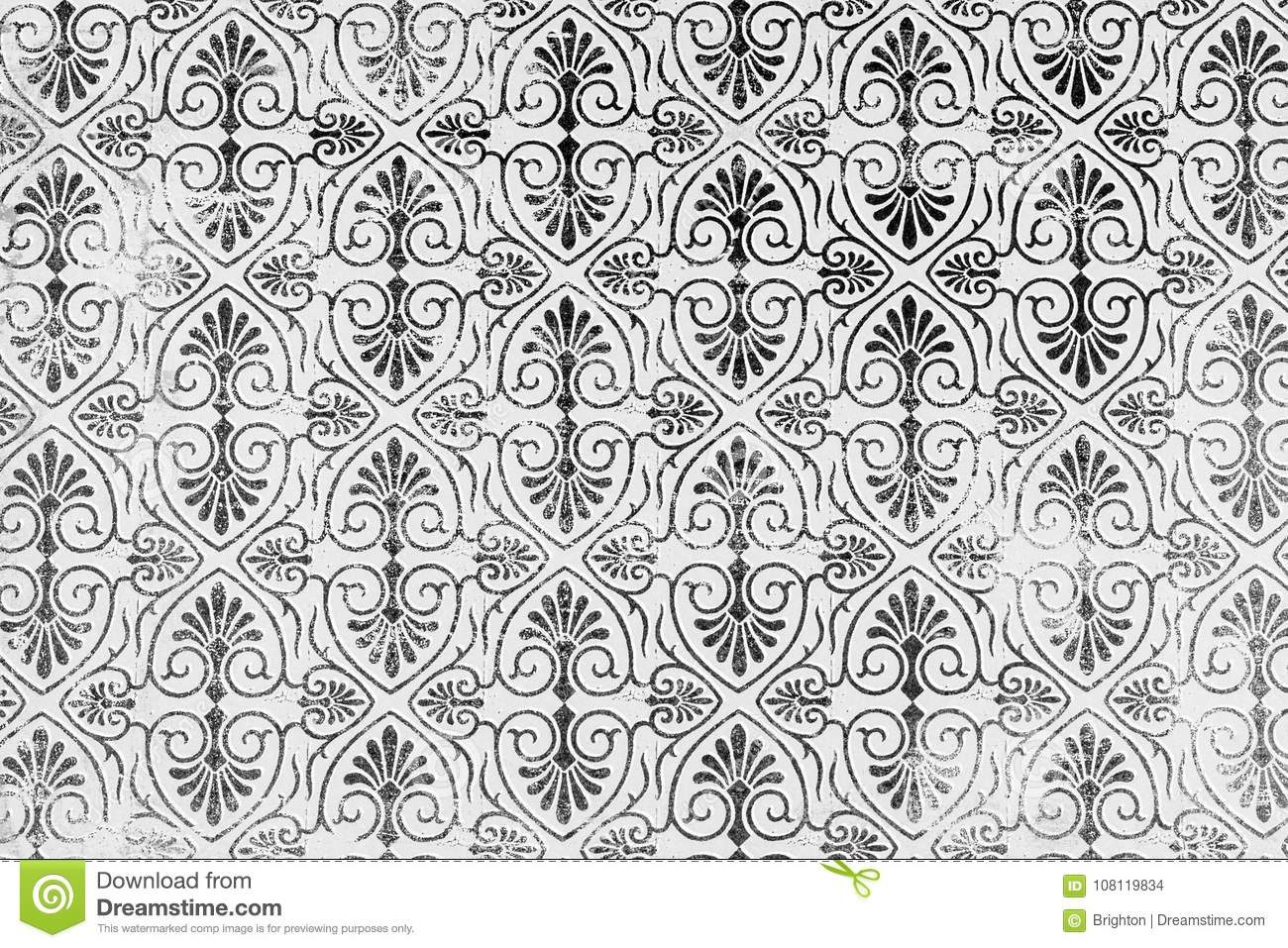 Classic damask patterned background.