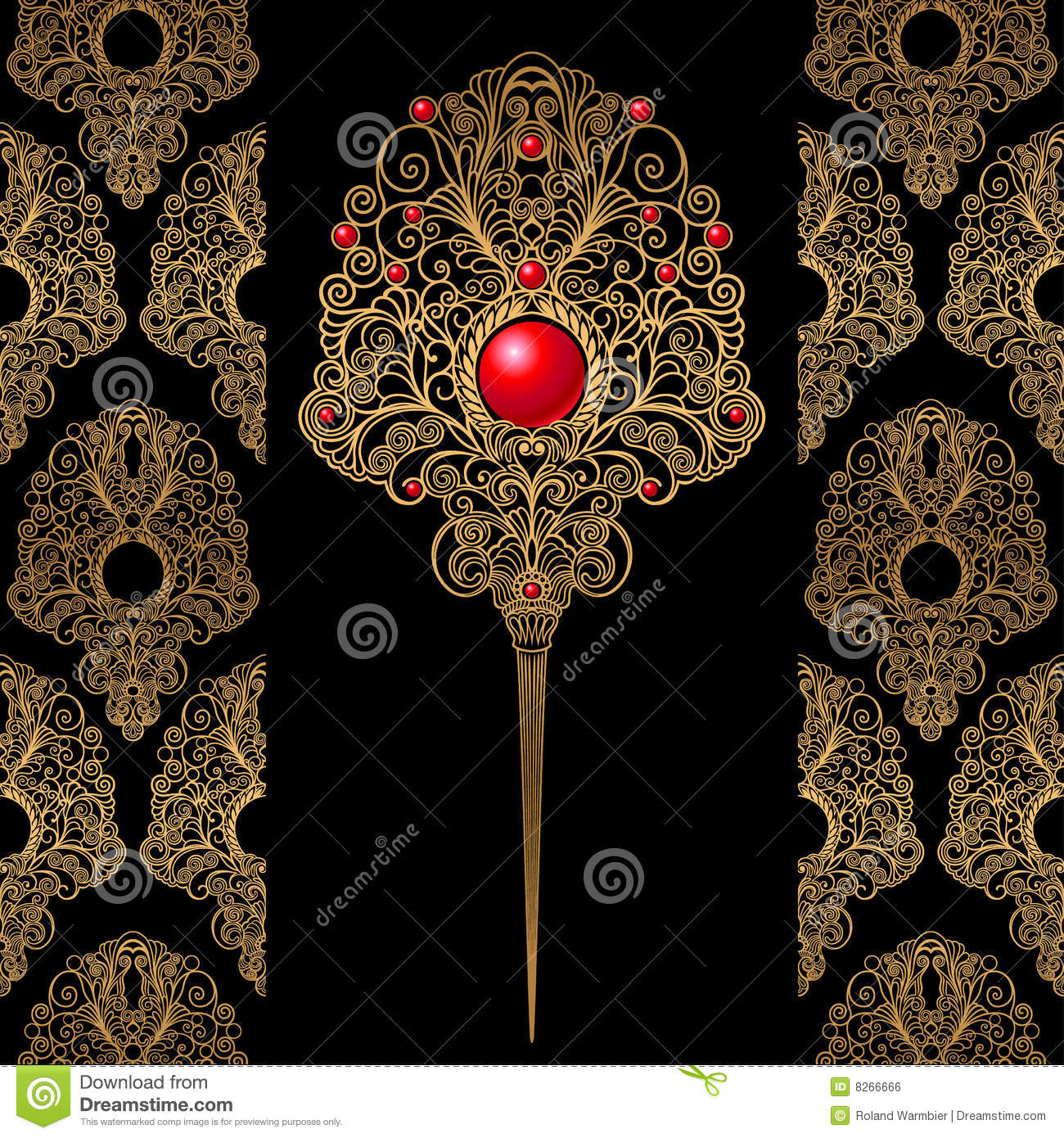 classic decoration and wallpaper background royalty free