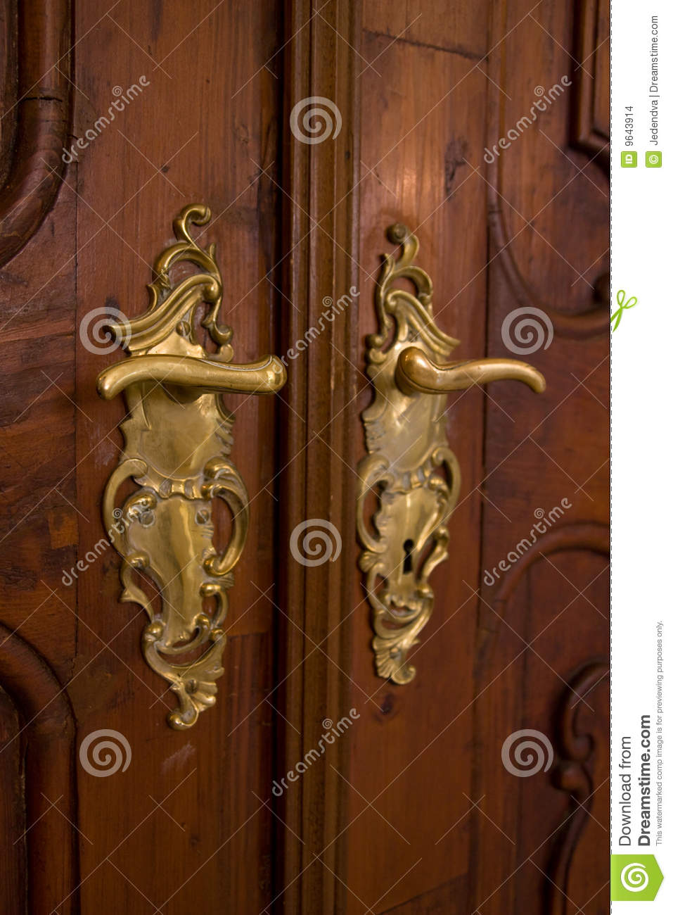 Classic Door Handle Stock Images Image 9643914