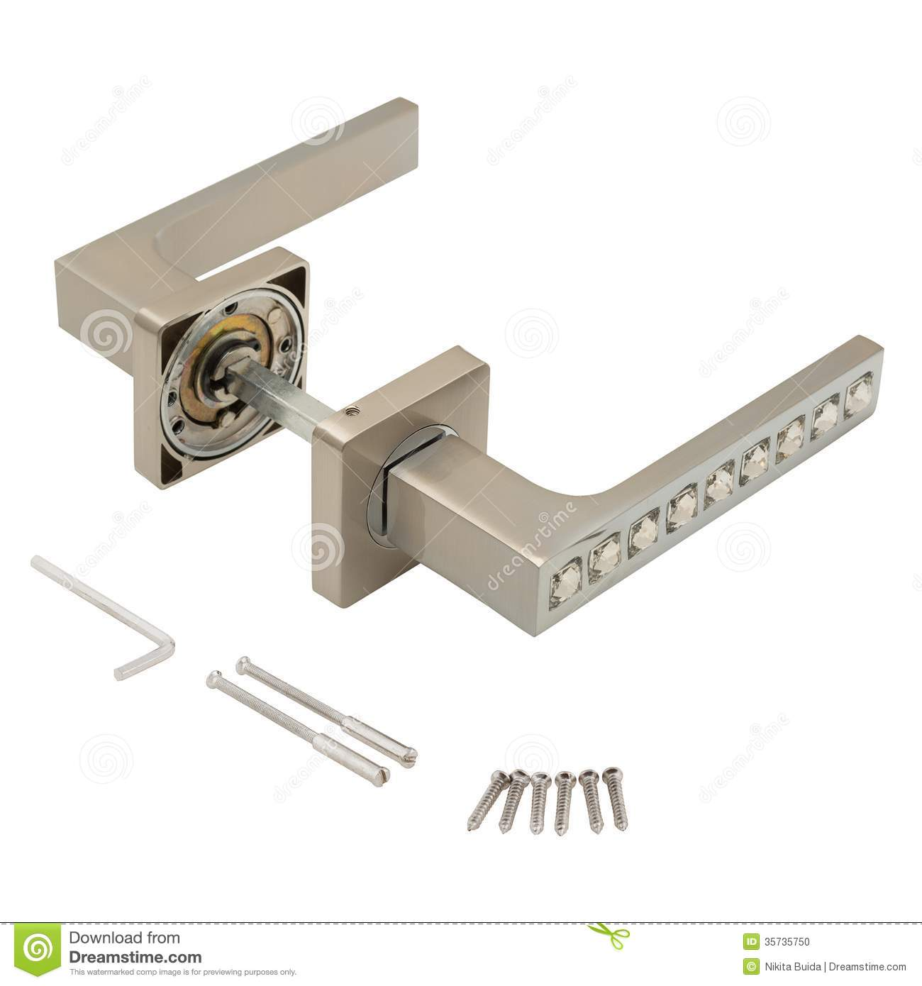 Classic door handle stock photo Image of gate residential 35735750