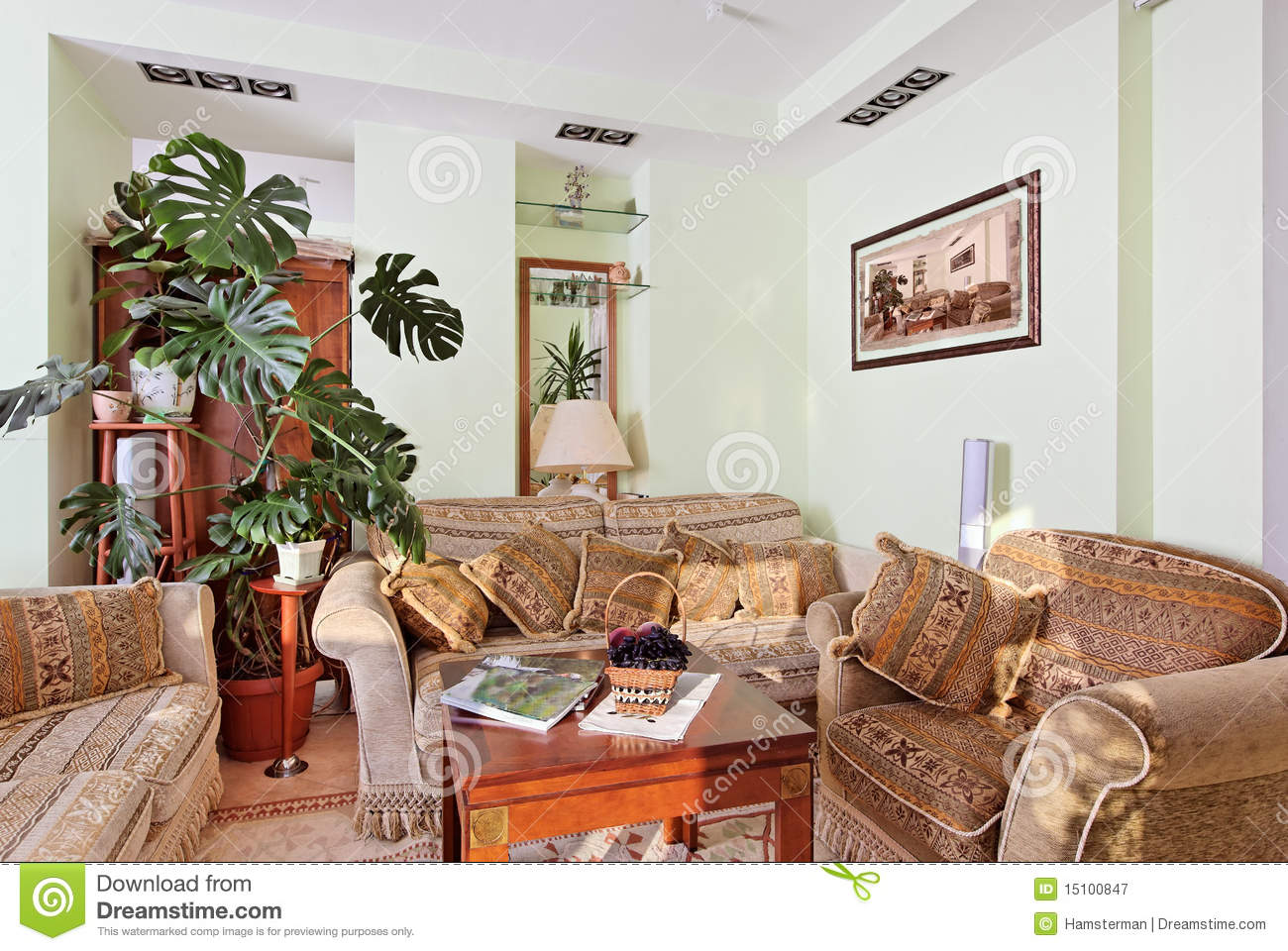 Classic drawing room interior rococo furniture royalty for Drawing room furniture pictures