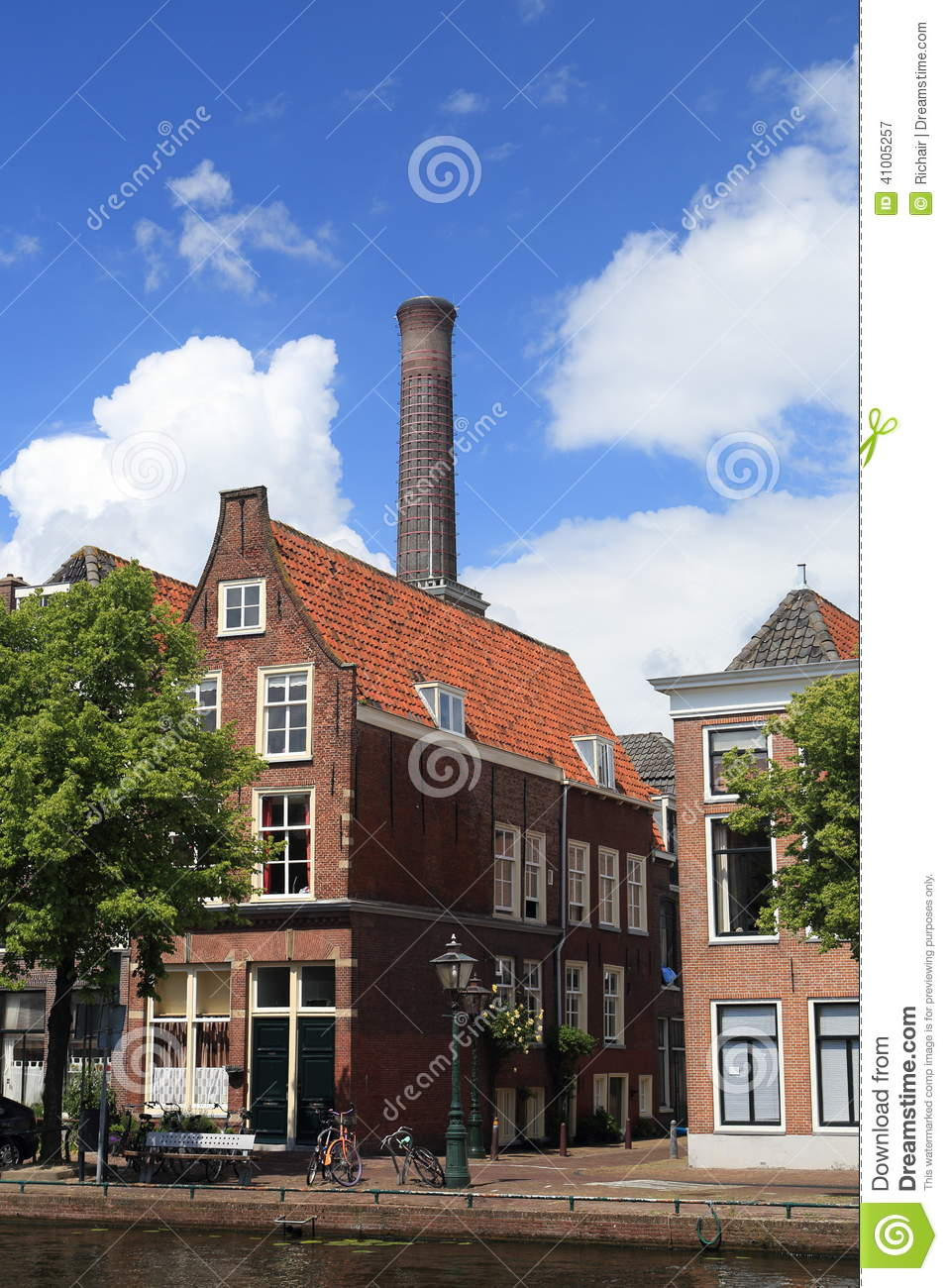 Classic dutch house with chimney stock photo image 41005257 for Classic dutch house of 60m2