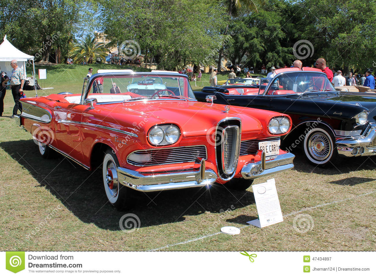 Classic Edsel In Row Of Cars Editorial Photography
