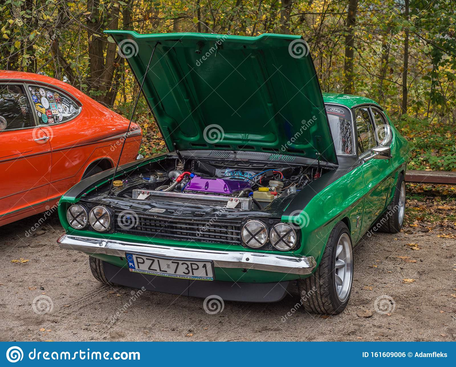 Classic Elegant Green Old Ford Capri Parked Editorial Photo Image Of Black Engineering 161609006