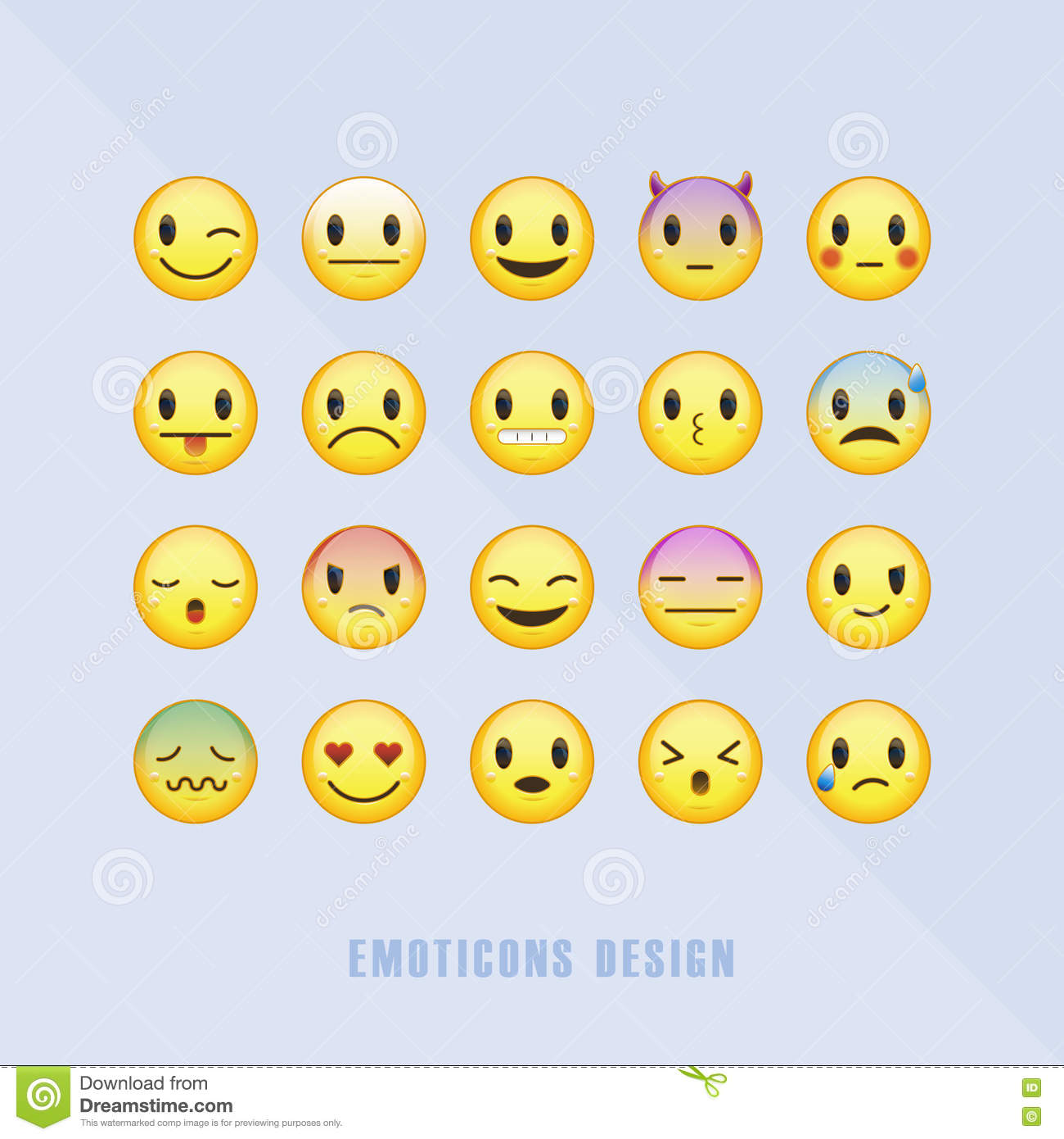 Classic emoticons set