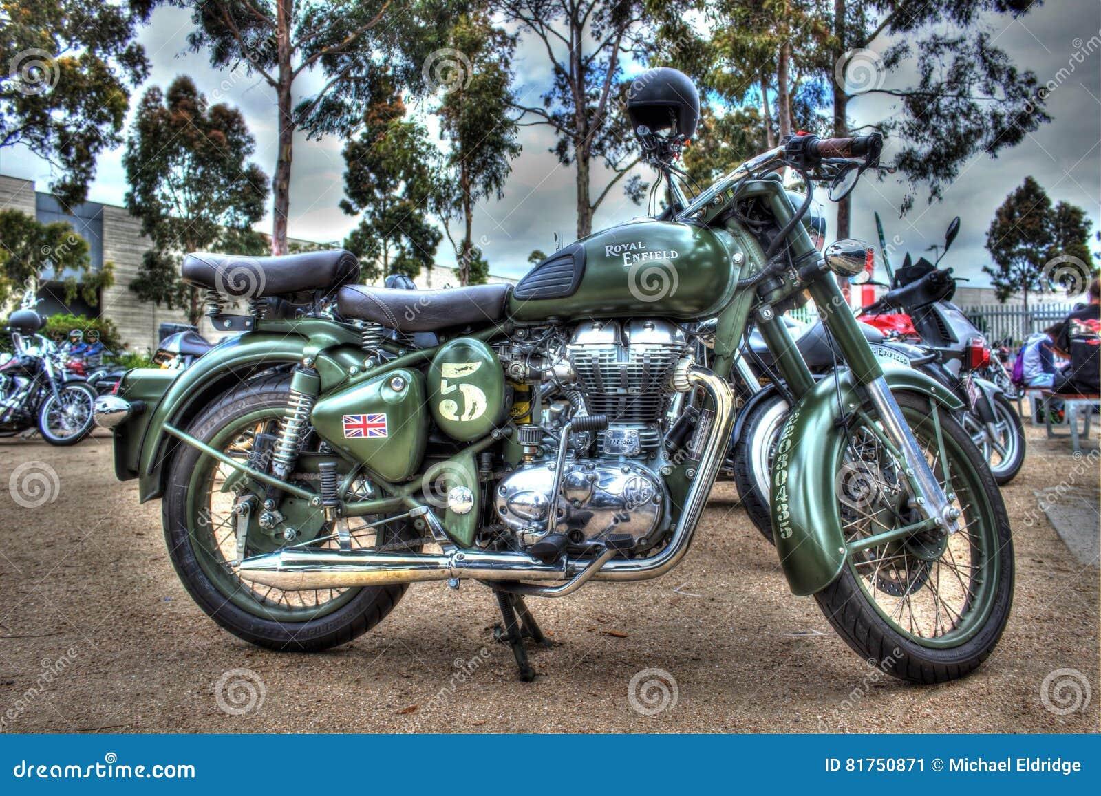 Classic English Built Royal Enfield Motorcycle Editorial ...