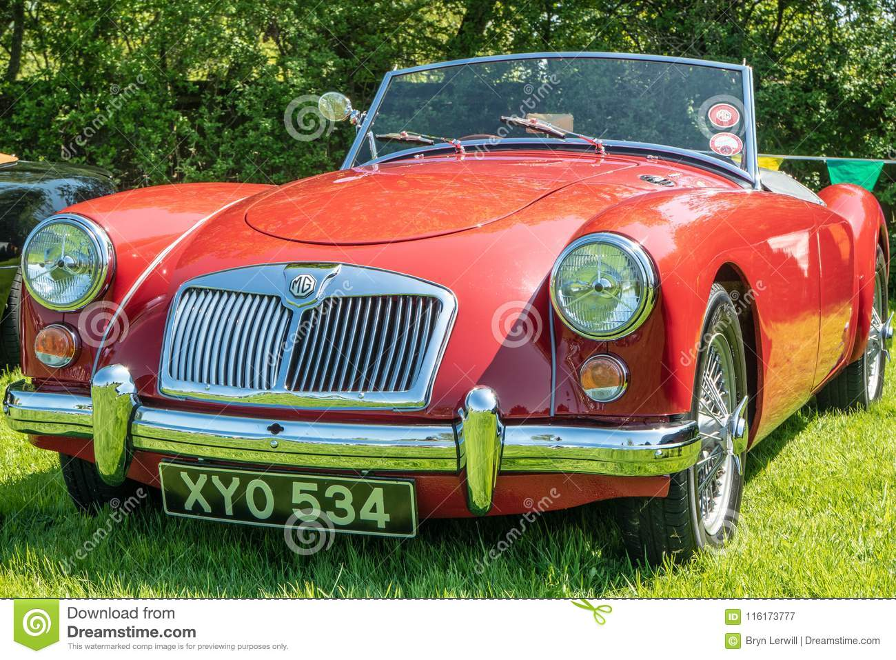 Red MG A At A Car Show Editorial Photography Image Of Kent - Mg car show