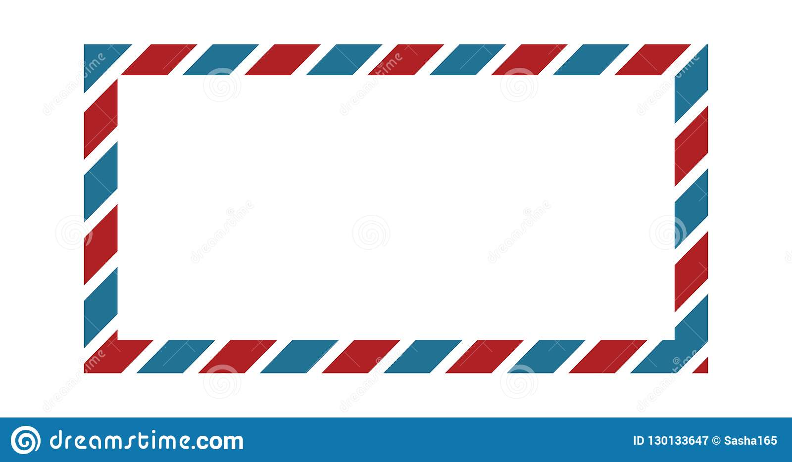 classic envelope border with red and blue colors for greeting cardclassic envelope border with red and blue colors for greeting card design, wallpaper border,