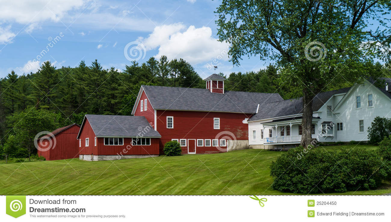 red barn and farm house stock photo image 49396056