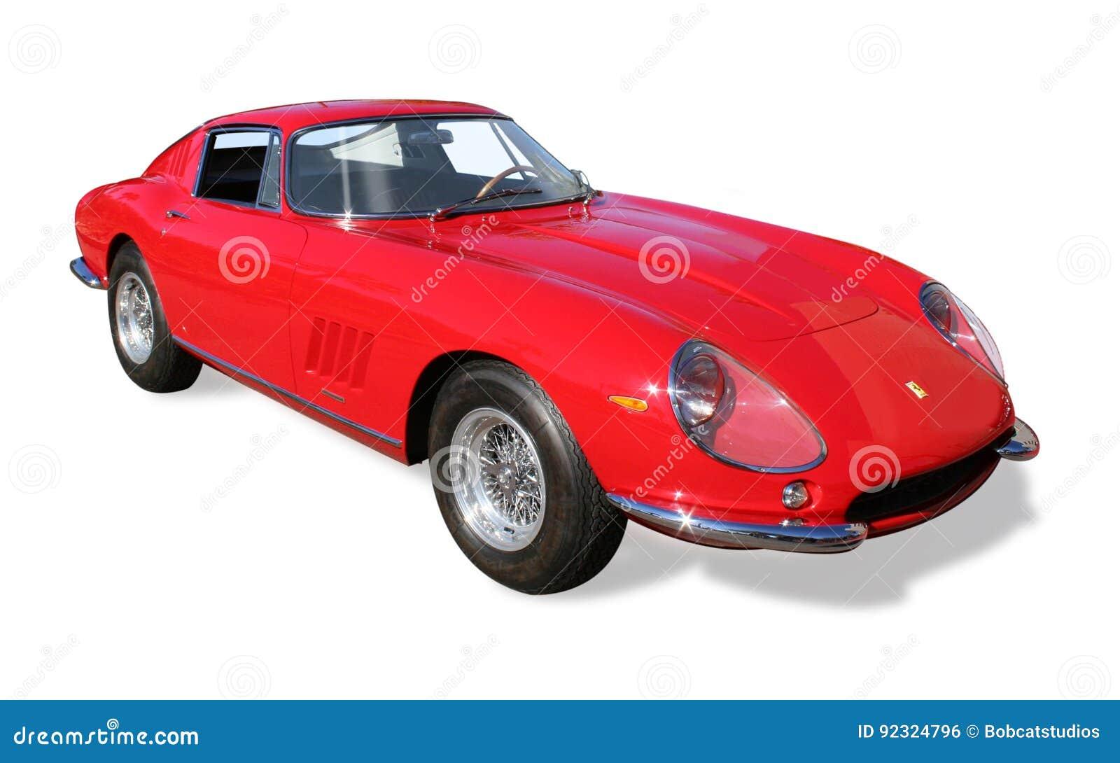 Classic Ferrari Coupe isolated