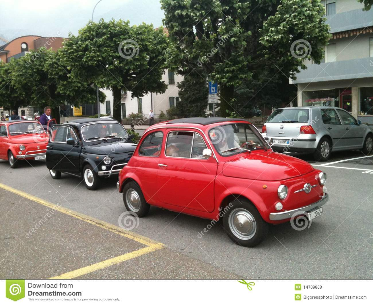 Classic Fiat 500 Italian Cars Editorial Stock Photo