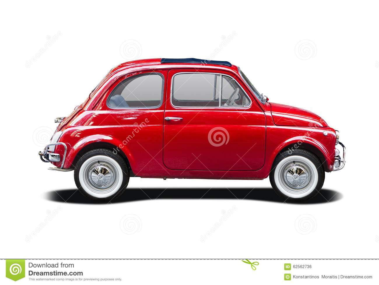 classic fiat 500 stock photo image of view isolated 62562736. Black Bedroom Furniture Sets. Home Design Ideas