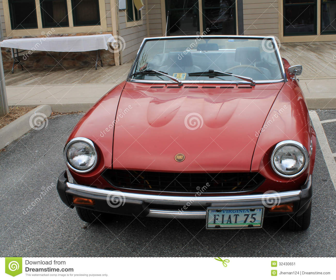 Classic Fiat Sports Car Front View Angle 1 Editorial Photo