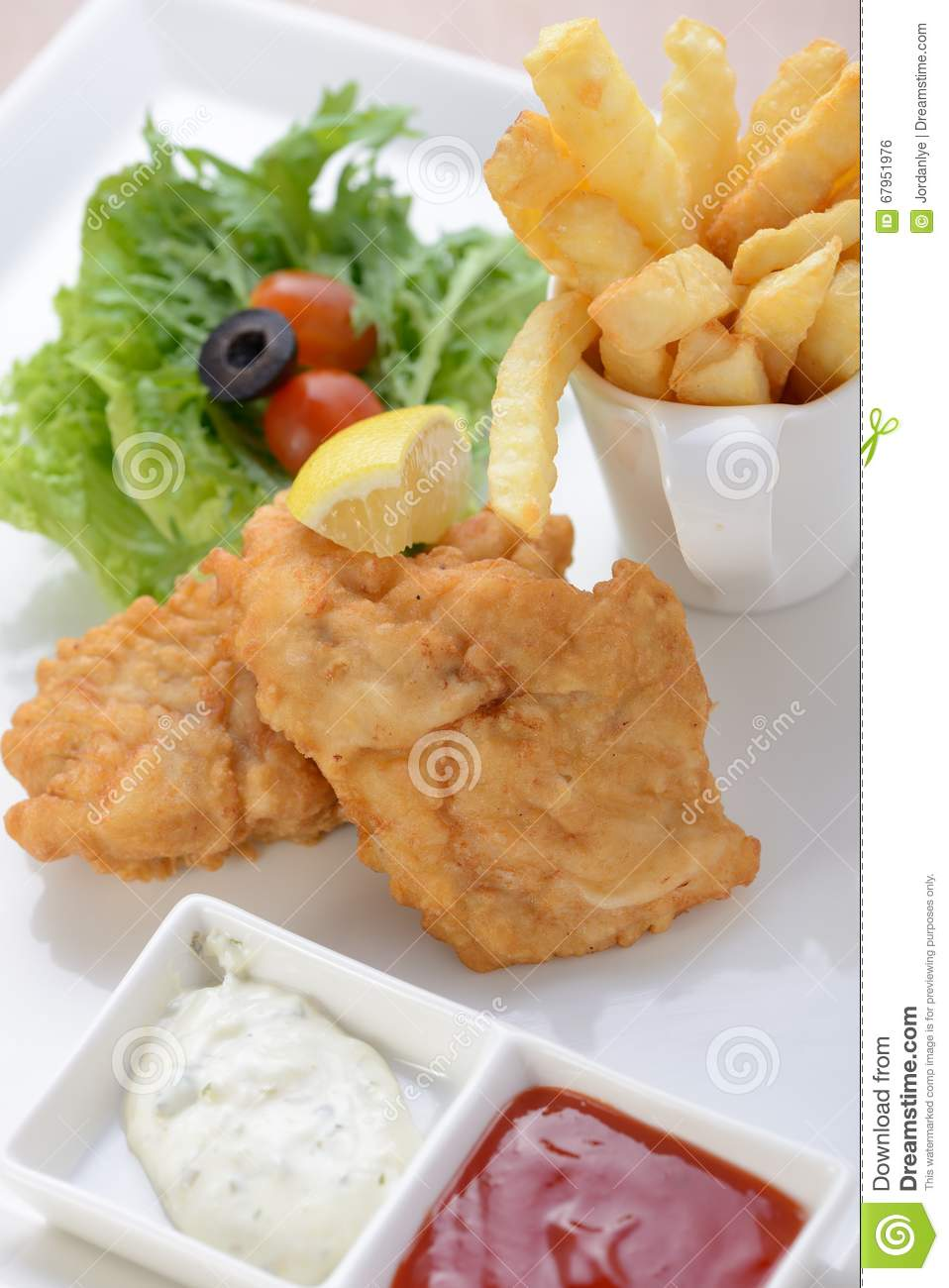 Classic Fish And Chips Stock PhotoImage67951976