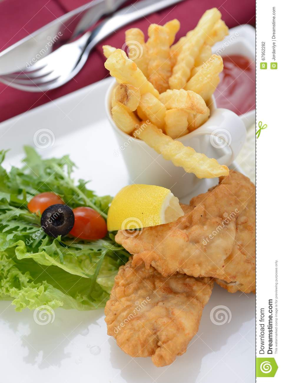 Classic Fish And Chips Stock PhotoImage67952282