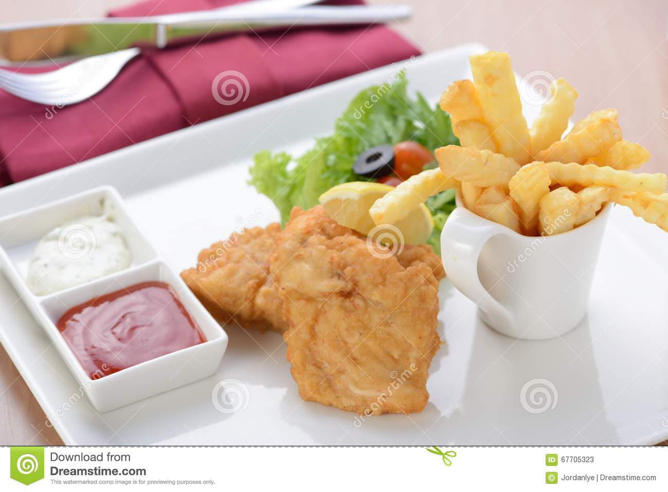 Classic Fish And Chips Stock PhotoImage67705323