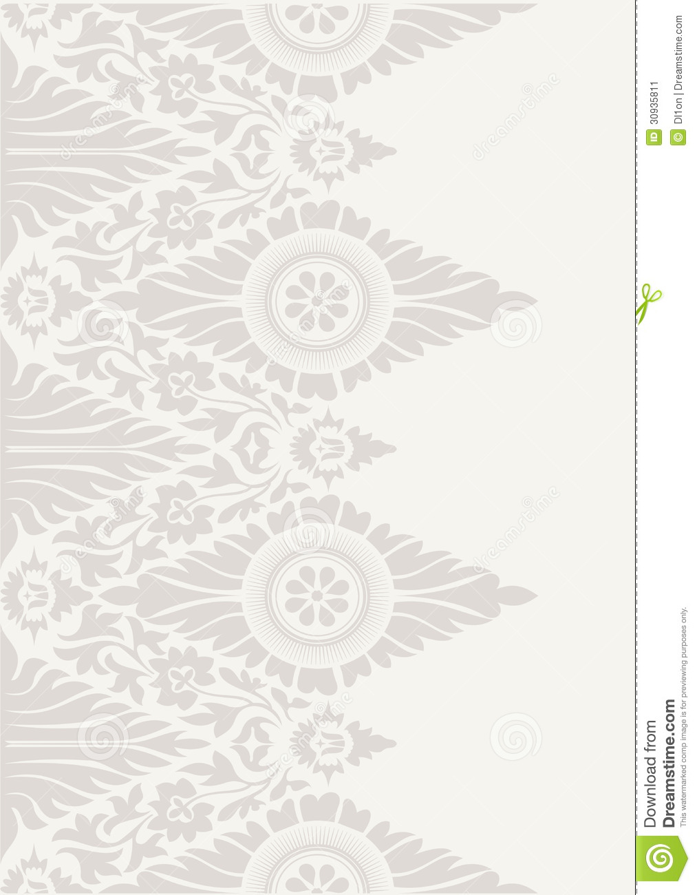 Classic Floral Wallpaper Background Pattern Stock Vector