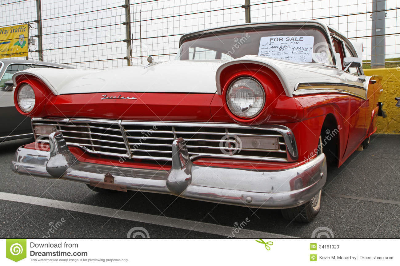 Classic 1957 Ford Automobile Editorial Stock Photo Image