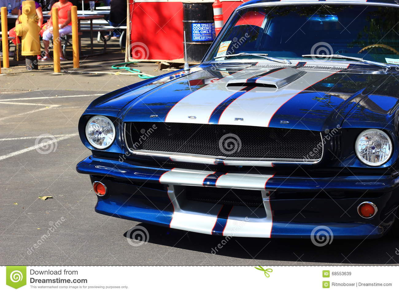 Classic Ford Blue Car At The Good Guys Car Show Editorial Stock - Classic pony car shows