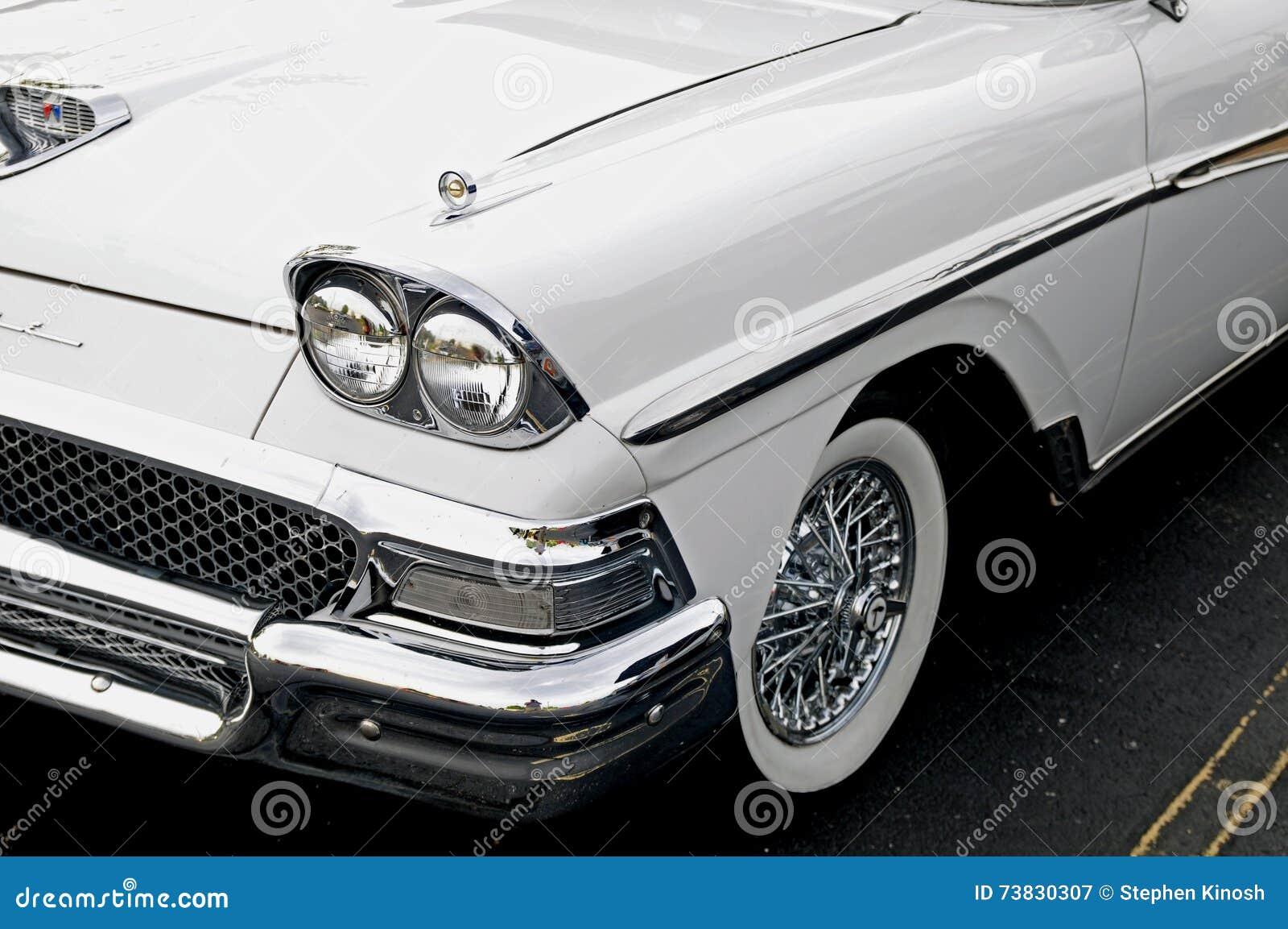 Classic Ford Fairlane Stock Image Of Chrome Drag 73830307 1950s Bumper