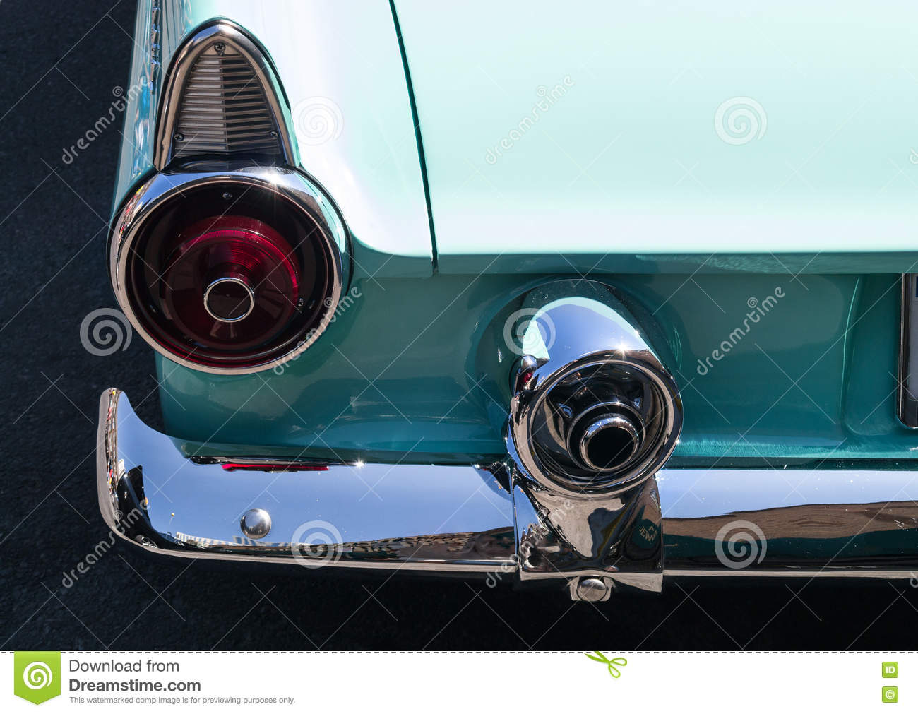 Classic Ford Thunderbird Stock Photo Image Of Details 75359942