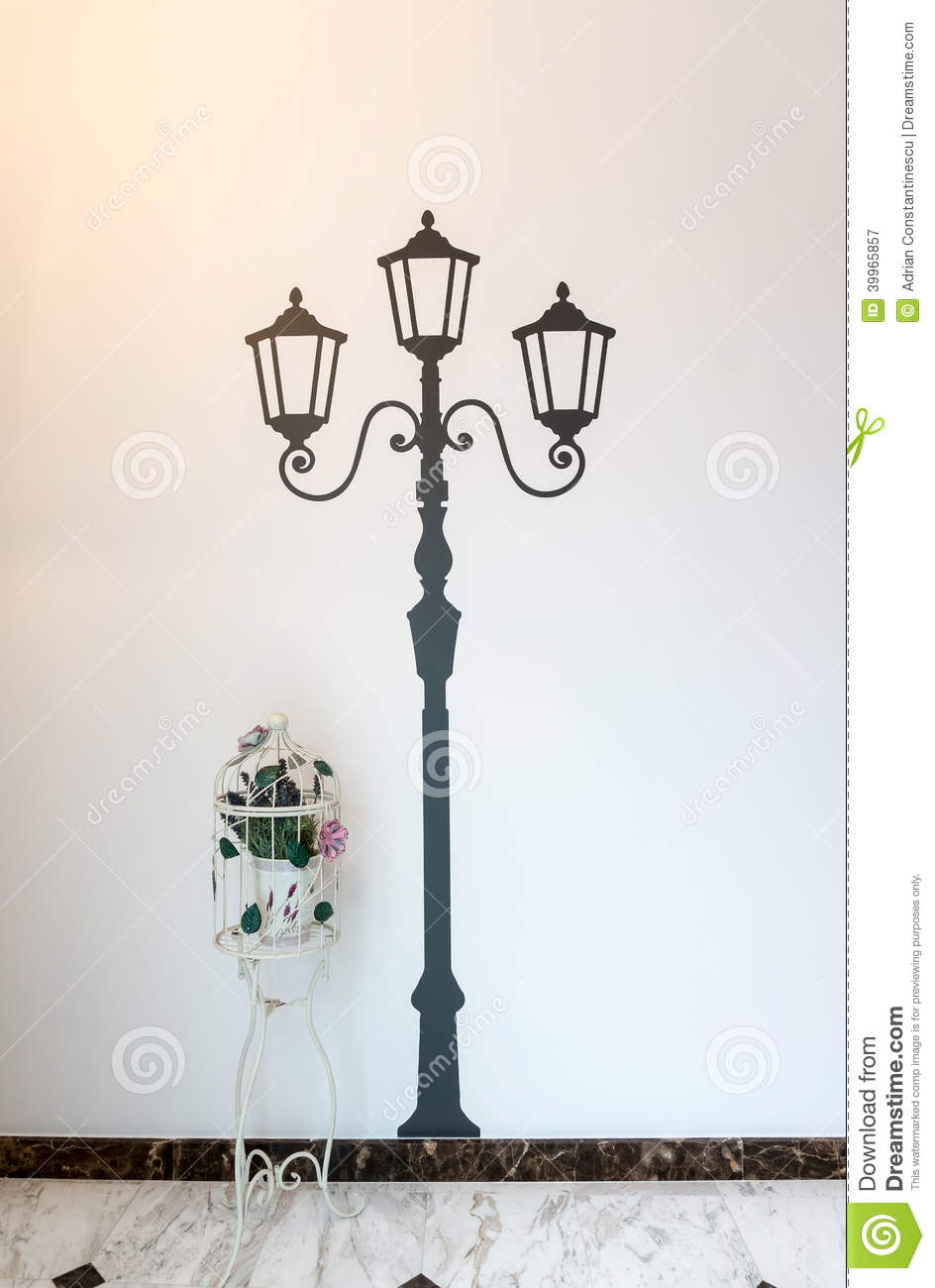 Classic French Wall Decoration Stock Image Image Of French