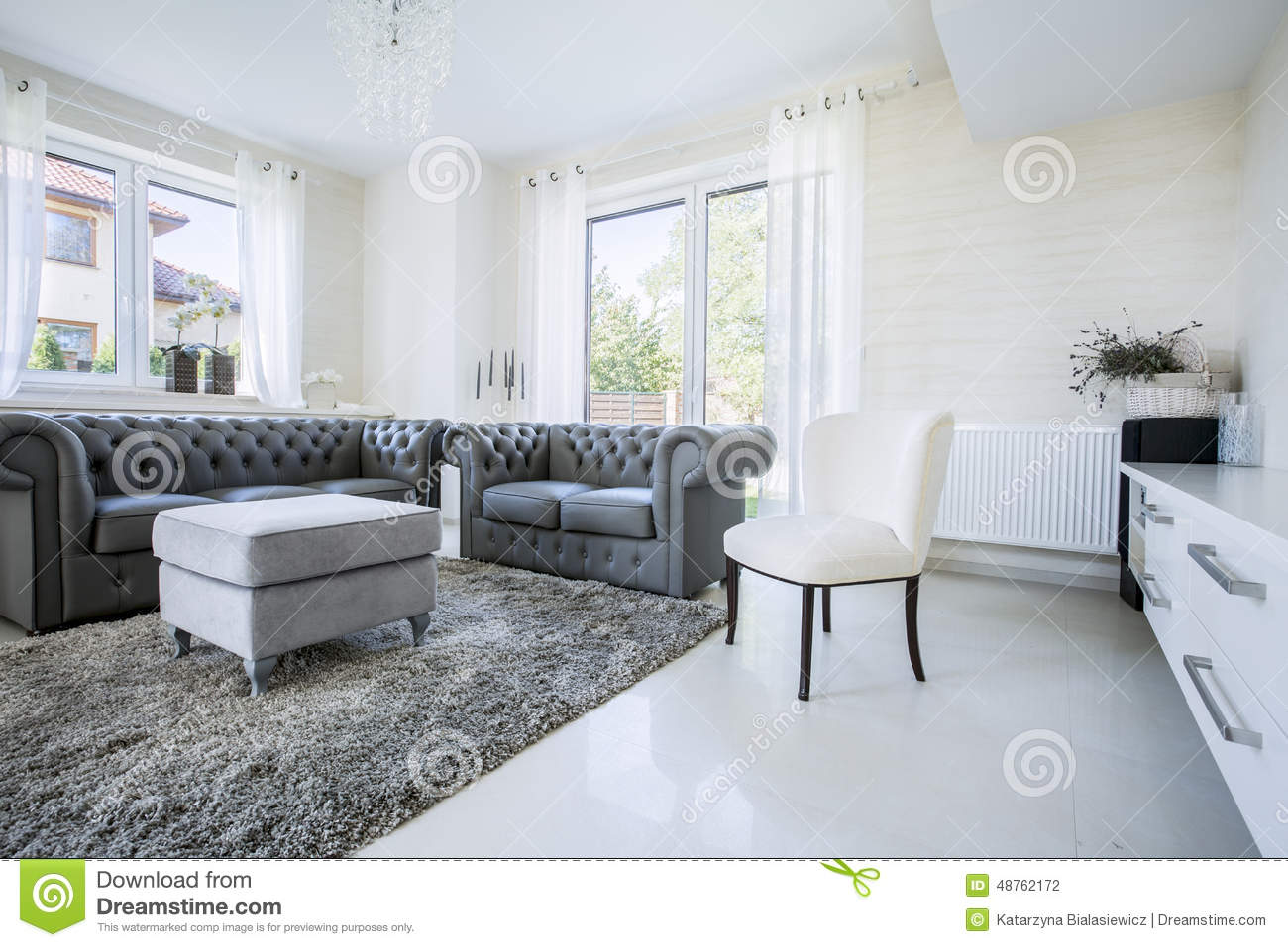 Classic furniture in modern house stock photo image for Modern classic house