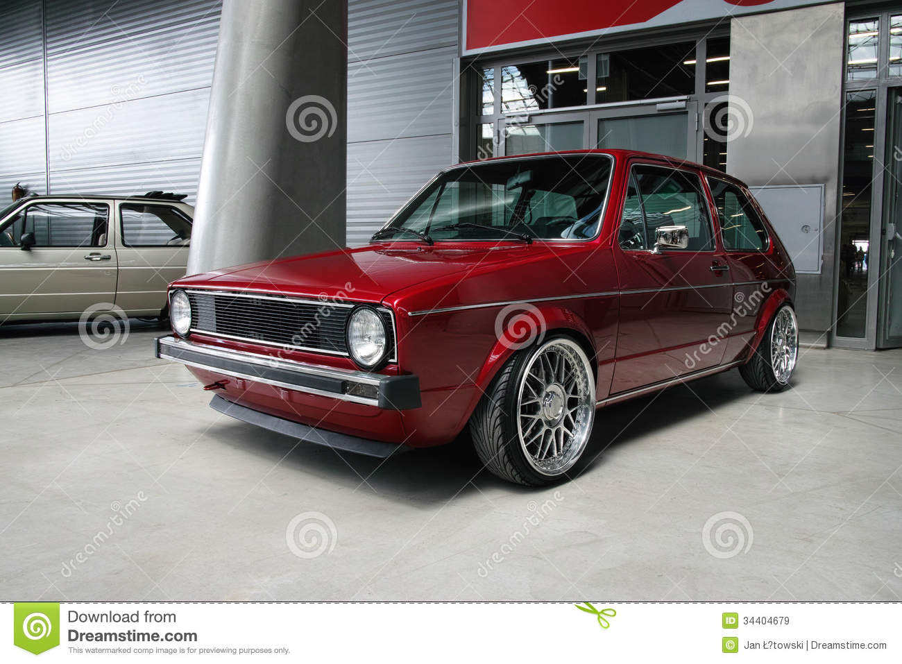 Classic german car volkswagen golf royalty free stock for Credit auto garage volkswagen