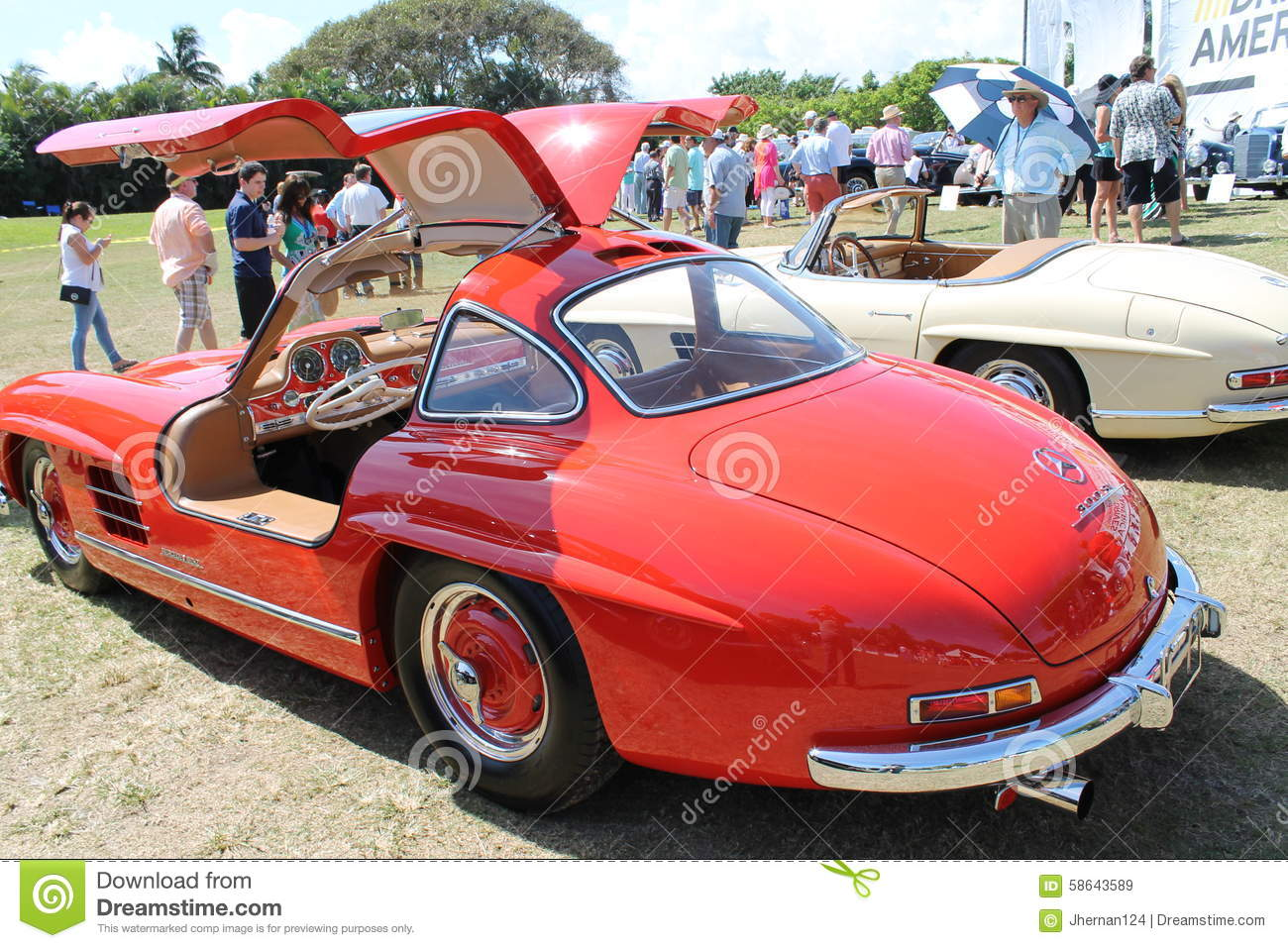 Classic German Sports Car And Cabin Editorial Stock Image