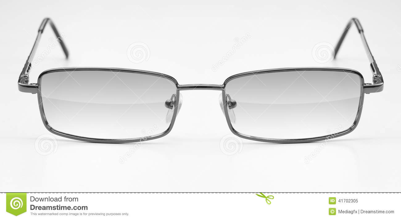 Classic Glasses In Metal Frame Stock Image - Image of eyesight ...