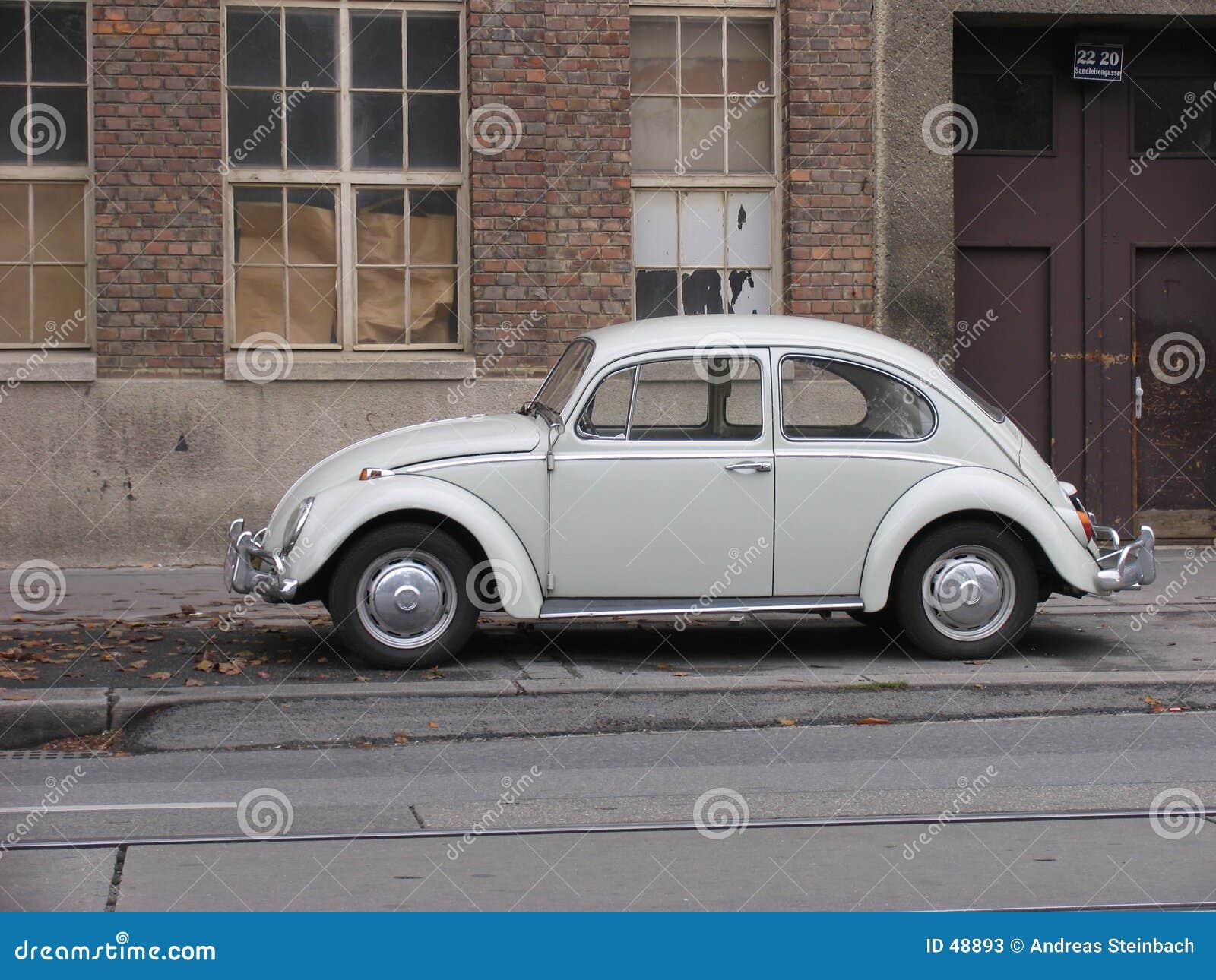 Classic gray Volkswagen Beetle