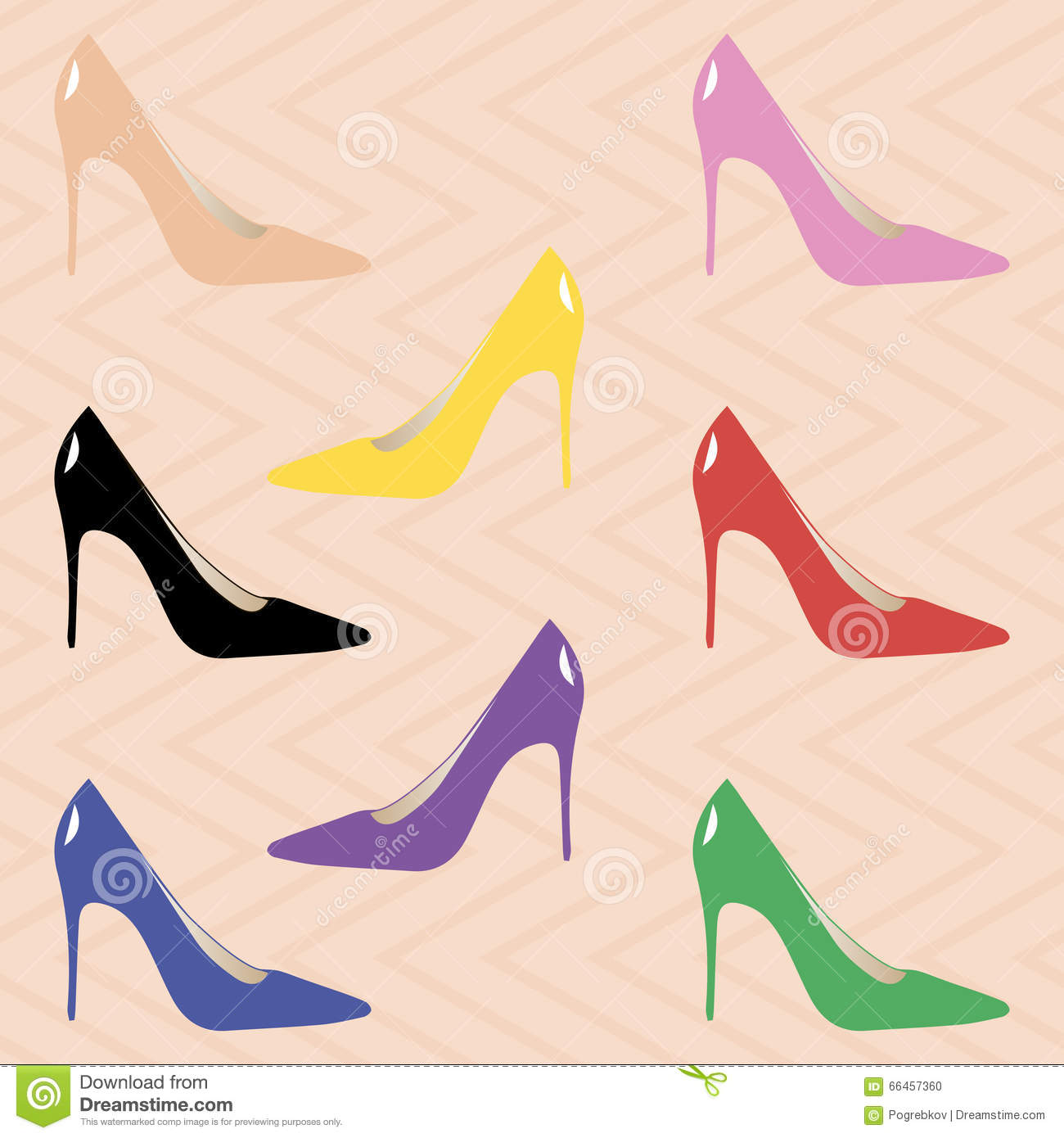 eb00f163ac3 Classic High Heel Pumps For Women Stock Vector - Illustration of ...