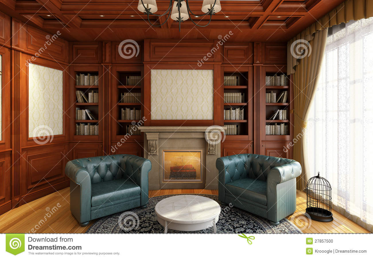 Classic Home Office Stock Photo Image 27857500