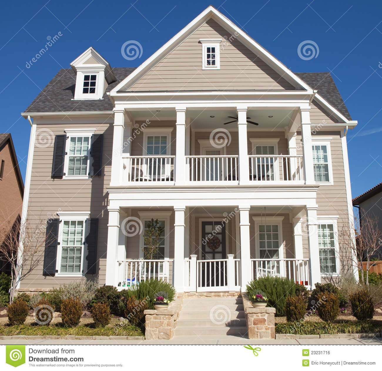 Classic house stock photo image of exterior residential for Classic 6 house