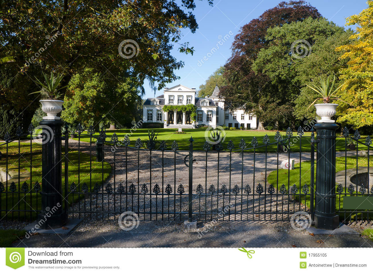 Classic house with large garden royalty free stock photo for Classic house landscape