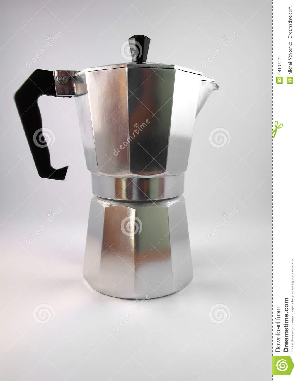 Classic Italian Coffee Maker Stock Image - Image: 24187871