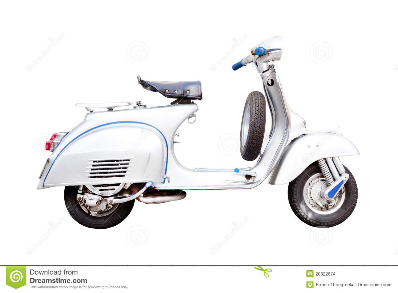 Classic Italian Scooter As Silhouette Stock Images Image