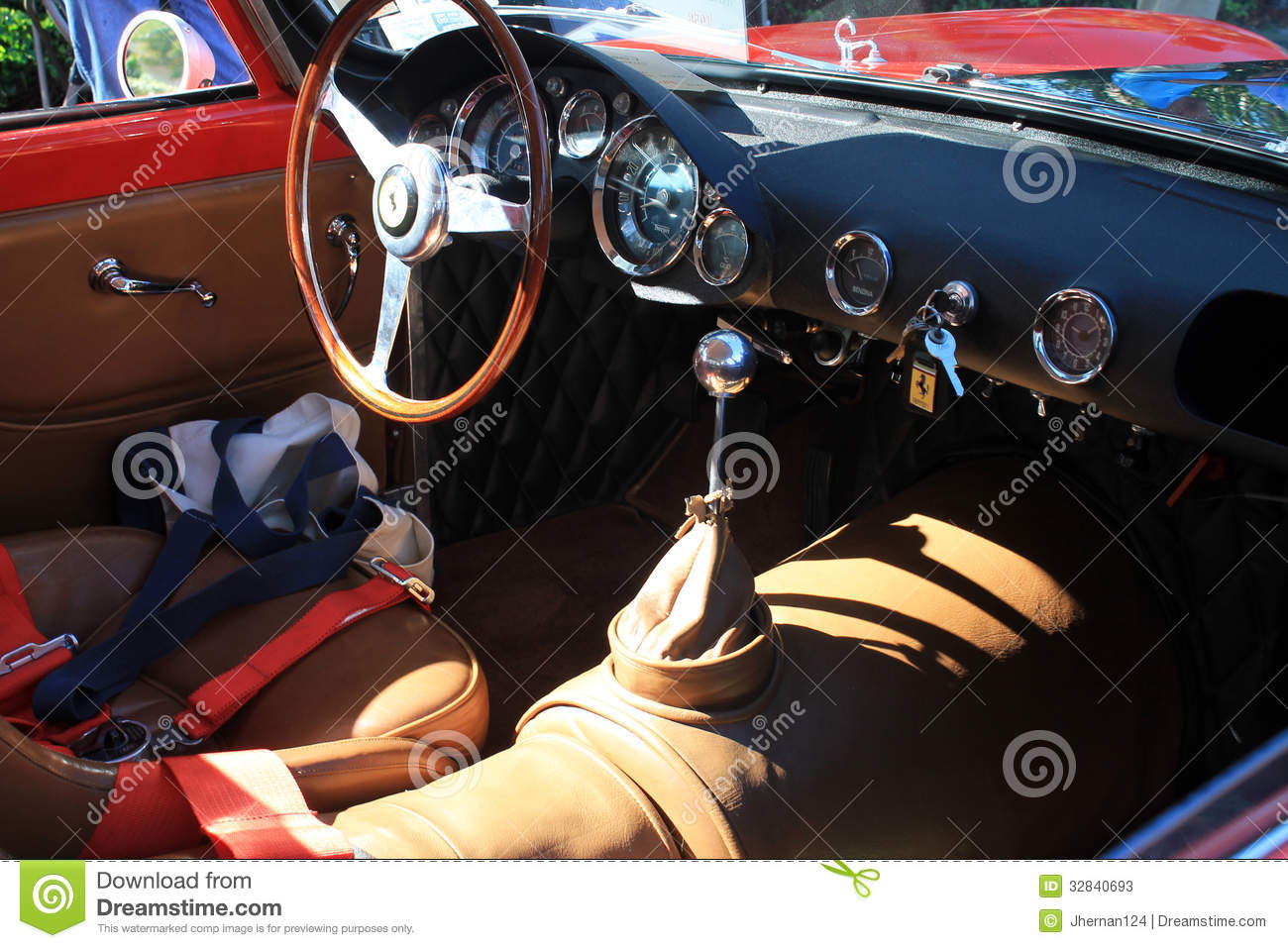 classic italian sports car interior at event editorial stock photo image 32840693. Black Bedroom Furniture Sets. Home Design Ideas