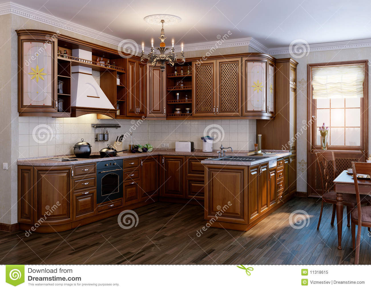 Classic Kitchen Royalty Free Stock Photo Image 11318615