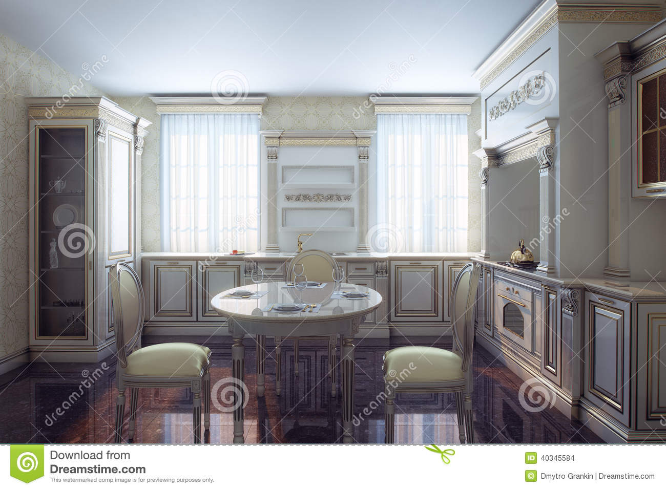 classic kitchen cabinet in provence vintage style stock photo classic kitchen provence