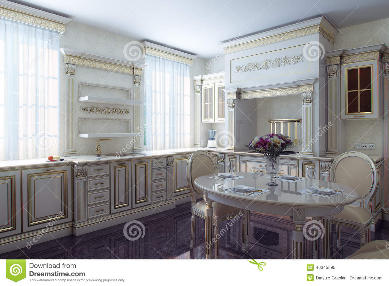 antique looking kitchen cabinets classic kitchen cabinet in provence vintage style stock 10660