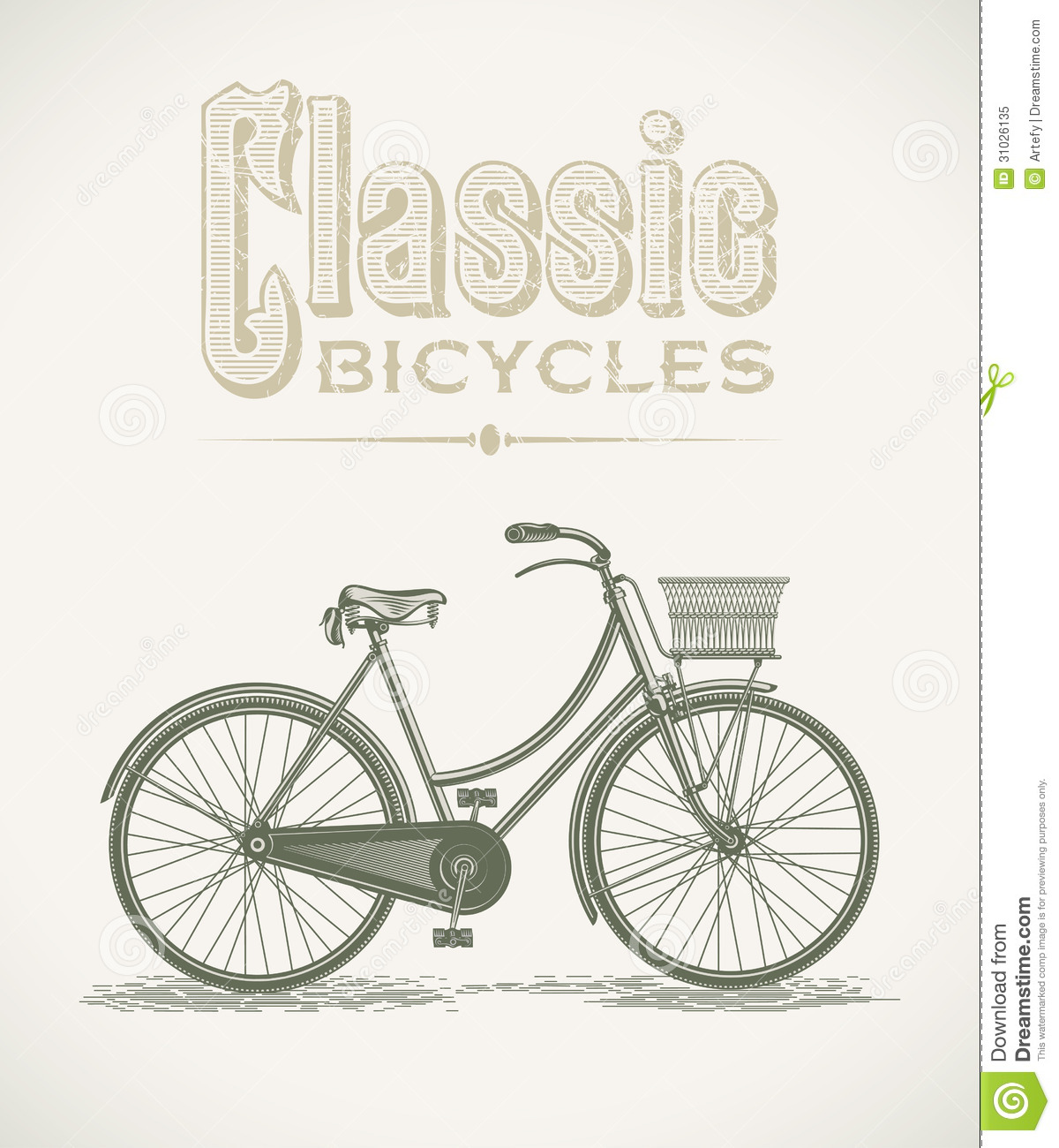 Classic ladys bicycle
