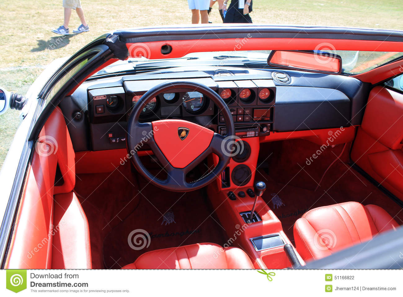 classic lamborghini cockpit interior editorial photography image 51166822. Black Bedroom Furniture Sets. Home Design Ideas